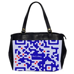 Digital Computer Graphic Qr Code Is Encrypted With The Inscription Office Handbags (2 Sides)