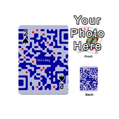 Digital Computer Graphic Qr Code Is Encrypted With The Inscription Playing Cards 54 (mini)