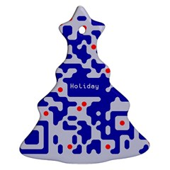 Digital Computer Graphic Qr Code Is Encrypted With The Inscription Ornament (christmas Tree)