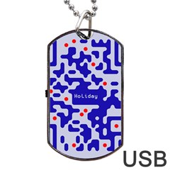 Digital Computer Graphic Qr Code Is Encrypted With The Inscription Dog Tag Usb Flash (one Side)