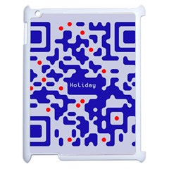 Digital Computer Graphic Qr Code Is Encrypted With The Inscription Apple Ipad 2 Case (white)