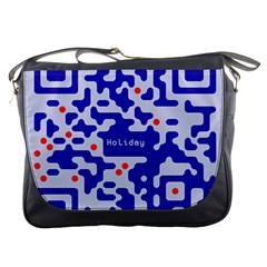 Digital Computer Graphic Qr Code Is Encrypted With The Inscription Messenger Bags