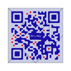 Digital Computer Graphic Qr Code Is Encrypted With The Inscription Acrylic Tangram Puzzle (6  X 6 )