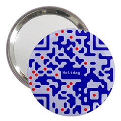 Digital Computer Graphic Qr Code Is Encrypted With The Inscription 3  Handbag Mirrors