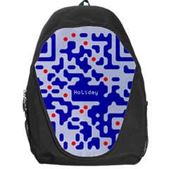 Digital Computer Graphic Qr Code Is Encrypted With The Inscription Backpack Bag