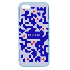 Digital Computer Graphic Qr Code Is Encrypted With The Inscription Apple Seamless Iphone 5 Case (color)