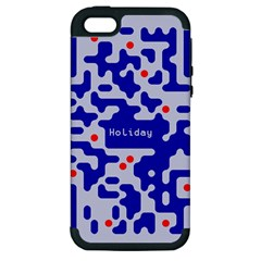 Digital Computer Graphic Qr Code Is Encrypted With The Inscription Apple Iphone 5 Hardshell Case (pc+silicone)