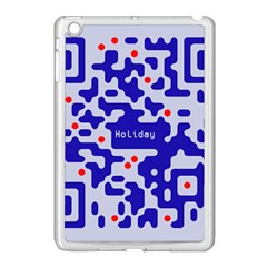 Digital Computer Graphic Qr Code Is Encrypted With The Inscription Apple Ipad Mini Case (white)