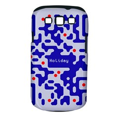Digital Computer Graphic Qr Code Is Encrypted With The Inscription Samsung Galaxy S Iii Classic Hardshell Case (pc+silicone)