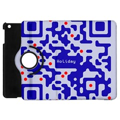 Digital Computer Graphic Qr Code Is Encrypted With The Inscription Apple iPad Mini Flip 360 Case