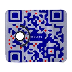 Digital Computer Graphic Qr Code Is Encrypted With The Inscription Galaxy S3 (flip/folio)