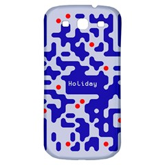 Digital Computer Graphic Qr Code Is Encrypted With The Inscription Samsung Galaxy S3 S Iii Classic Hardshell Back Case