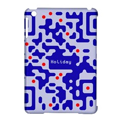 Digital Computer Graphic Qr Code Is Encrypted With The Inscription Apple Ipad Mini Hardshell Case (compatible With Smart Cover)