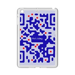 Digital Computer Graphic Qr Code Is Encrypted With The Inscription Ipad Mini 2 Enamel Coated Cases