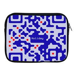 Digital Computer Graphic Qr Code Is Encrypted With The Inscription Apple Ipad 2/3/4 Zipper Cases