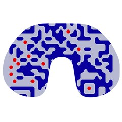 Digital Computer Graphic Qr Code Is Encrypted With The Inscription Travel Neck Pillows