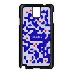 Digital Computer Graphic Qr Code Is Encrypted With The Inscription Samsung Galaxy Note 3 N9005 Case (Black)