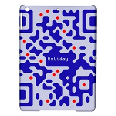 Digital Computer Graphic Qr Code Is Encrypted With The Inscription iPad Air Hardshell Cases