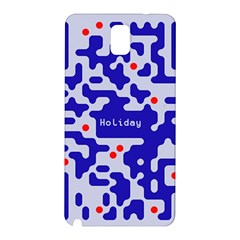 Digital Computer Graphic Qr Code Is Encrypted With The Inscription Samsung Galaxy Note 3 N9005 Hardshell Back Case