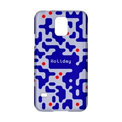 Digital Computer Graphic Qr Code Is Encrypted With The Inscription Samsung Galaxy S5 Hardshell Case
