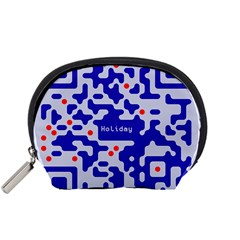 Digital Computer Graphic Qr Code Is Encrypted With The Inscription Accessory Pouches (small)