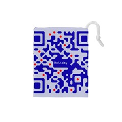 Digital Computer Graphic Qr Code Is Encrypted With The Inscription Drawstring Pouches (small)