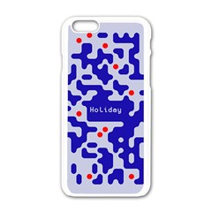 Digital Computer Graphic Qr Code Is Encrypted With The Inscription Apple Iphone 6/6s White Enamel Case