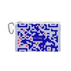 Digital Computer Graphic Qr Code Is Encrypted With The Inscription Canvas Cosmetic Bag (s)