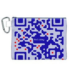 Digital Computer Graphic Qr Code Is Encrypted With The Inscription Canvas Cosmetic Bag (xl)