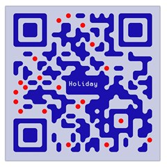 Digital Computer Graphic Qr Code Is Encrypted With The Inscription Large Satin Scarf (Square)