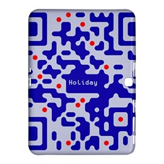 Digital Computer Graphic Qr Code Is Encrypted With The Inscription Samsung Galaxy Tab 4 (10.1 ) Hardshell Case