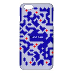 Digital Computer Graphic Qr Code Is Encrypted With The Inscription Iphone 6 Plus/6s Plus Tpu Case