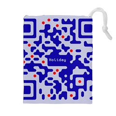 Digital Computer Graphic Qr Code Is Encrypted With The Inscription Drawstring Pouches (extra Large)
