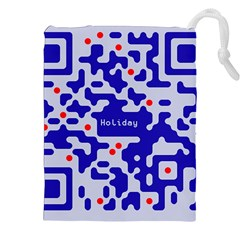 Digital Computer Graphic Qr Code Is Encrypted With The Inscription Drawstring Pouches (xxl)
