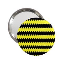 Yellow Black Chevron Wave 2.25  Handbag Mirrors