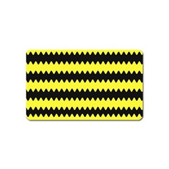 Yellow Black Chevron Wave Magnet (name Card)