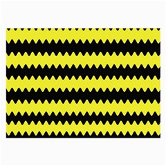 Yellow Black Chevron Wave Large Glasses Cloth