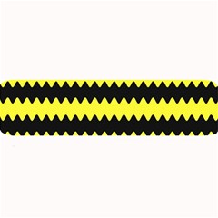 Yellow Black Chevron Wave Large Bar Mats