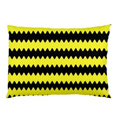 Yellow Black Chevron Wave Pillow Case