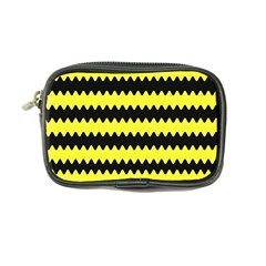 Yellow Black Chevron Wave Coin Purse