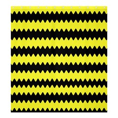 Yellow Black Chevron Wave Shower Curtain 66  X 72  (large)