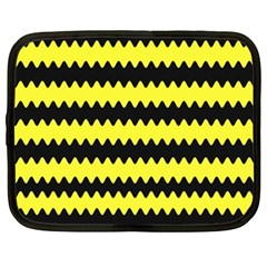 Yellow Black Chevron Wave Netbook Case (xxl)