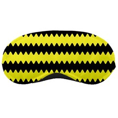 Yellow Black Chevron Wave Sleeping Masks