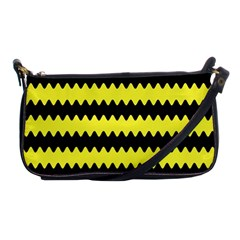 Yellow Black Chevron Wave Shoulder Clutch Bags