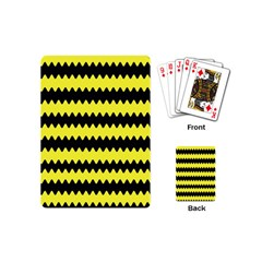 Yellow Black Chevron Wave Playing Cards (mini)