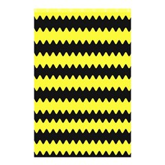 Yellow Black Chevron Wave Shower Curtain 48  X 72  (small)