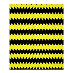 Yellow Black Chevron Wave Shower Curtain 60  X 72  (medium)