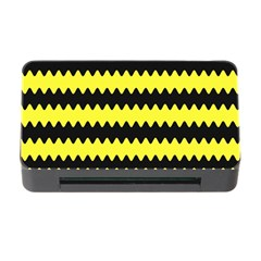Yellow Black Chevron Wave Memory Card Reader With Cf