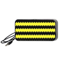 Yellow Black Chevron Wave Portable Speaker (black)