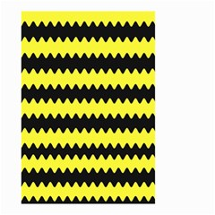 Yellow Black Chevron Wave Small Garden Flag (two Sides)